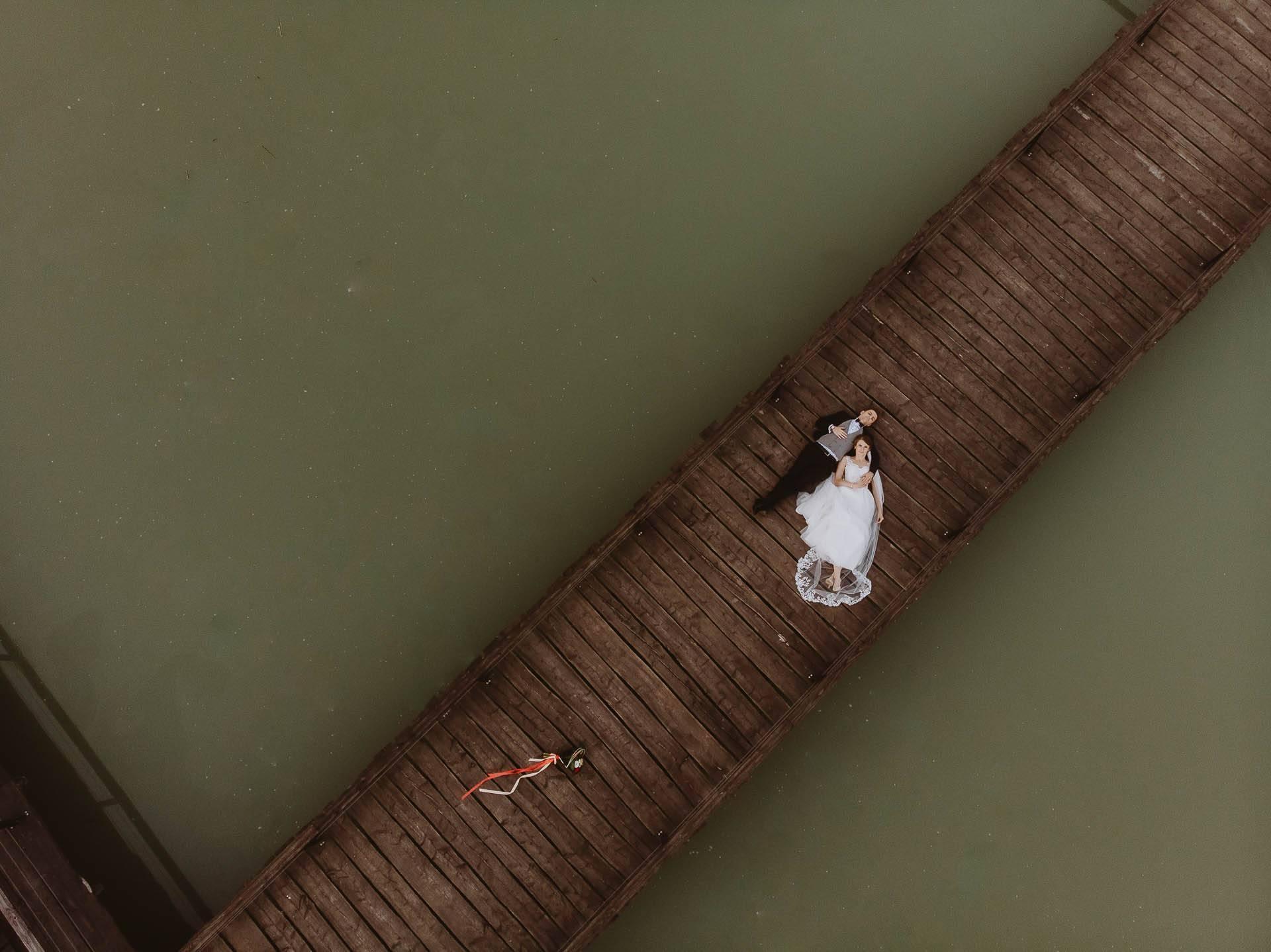Sesja plenerowa z drona w Siedlisku na Rozdrożu w Michowie